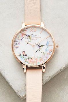 Olivia Burton light pink floral watch