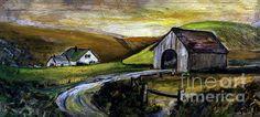 Rural Covered Bridge and Farm