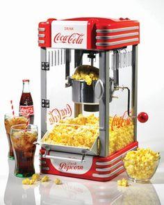 Nostalgia Electrics Pipoqueira  Kettle Coca-Cola® Series - <b>Super Lançamento</b>