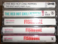 5 RHCP n FISHBONE cassette tape LoT vintage by VintageTrafficUSA, $33.50