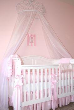 Adorable baby girl princess nursery :)