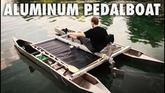 Building a Pedalboat out of Aluminum Festool Track Saw, Small Pontoon Boats, Floating Boat, Build A Bike, Boat Trailer, Life Aquatic, Welding Projects, Boat Building, Rowing