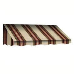 AWNTECH 10 ft. San Francisco Window/Entry Awning Awning (18 in. H x 36 in. D) in Brown/TerraCotta, Red