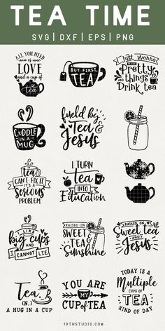Tea time SVG Bundle  MB30 - Quotes T Shirt - Ideas of Quotes T Shirt #quotesshirts #quotetshirts -