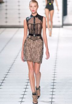 The boudoir hits the streets, runway.