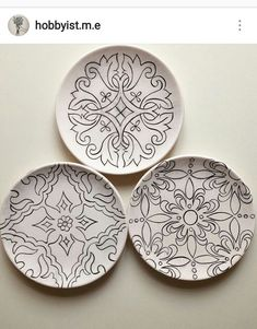 Dot Art Painting, Ceramic Painting, Painting Patterns, Ceramic Art, Painted Ceramic Plates, Hand Painted Ceramics, Decorative Plates, Glazes For Pottery, Ceramic Pottery