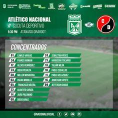 Lista de jugadores concentrados por el DT para el partido de esta tarde