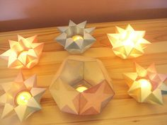 * to * mechtihild helbig *&* angel * ♡ Origami, Waldorf Kindergarten, Turquoise Party, Star Lanterns, Diwali Craft, Waldorf Crafts, Diwali Festival, Inspired Homes, Hobbies And Crafts