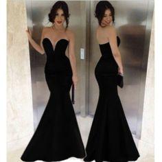 sexy long evening dresses,black prom dress ,mermaid prom dress 2014