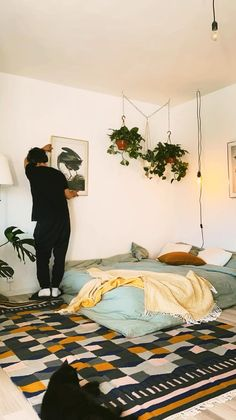 Room Design Bedroom, Apartment Bedroom Decor, Room Ideas Bedroom, Home Room Design, Diy Bedroom Decor, Bohemian Bedroom Decor, Boho Room, Boho Living Room, Zen Room