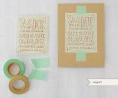Bildresultat för washi tape wedding invitation