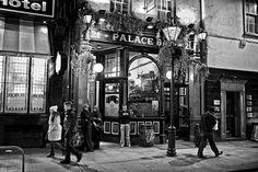 The Palace Bar, Dublin, Ireland Dublin Pubs, Dublin Ireland, Restaurant Facade, Photography Gallery, Palace, Facades, Palaces, Facade, Castles