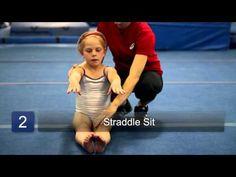Beginning Gymnastics How-To's Gymnastics At Home, Toddler Gymnastics, Gymnastics Academy, Preschool Gymnastics, Gymnastics Clubs, Tumbling Gymnastics, Gymnastics Party, Gymnastics Videos, Gymnastics Coaching