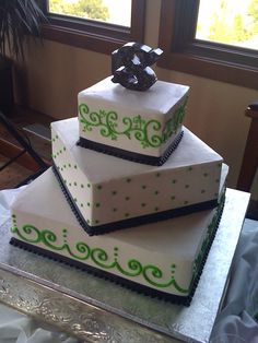 Black and Lime 3 Tier