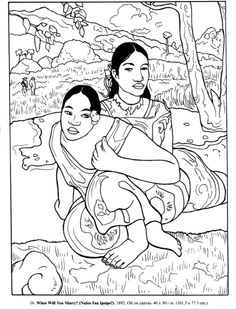 Coloring Sheets Of Famous Artworks To Use As Enrichment Or For Sub
