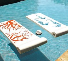 Pottery Barn pool floats - These are exactly like the ones I had growing up!