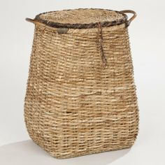 Bella Hamper - World Market by Cost Plus World Market. $79.99. Combining traditional materials and a fresh silhouette full of character, our Bella Hamper adds exotic appeal to an everyday activity. Handwoven of sustainable seagrass with bamboo handles, our exclusive hamper makes a chic catchall for clothes, towels and more.