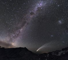 Large and Small Magellanic Clouds & Comet McNaught | Patagonia