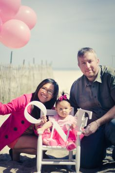 The Road Not Taken Photo- First Birthday Portraits- Family Portrait- ONE year old- Beach Session