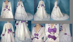 1860 bridal dress Detail http://www.antiquedress.com/item6747.htm