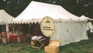Medieval camping supplies and more -tents, pavilions, garb, arms, armor, children's items