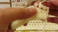 Ponto baixo com ponto meio alto em croche