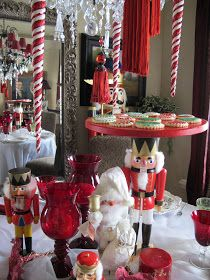 YOU ARE INVITED TO A NUTCRACKER SWEETS PARTY   Come into my dining room  and have a sweet treat with a part of my collection of nutcrackers...