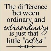 What makes you extraordinary?