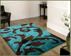 Brown And Turquoise Area Rugs