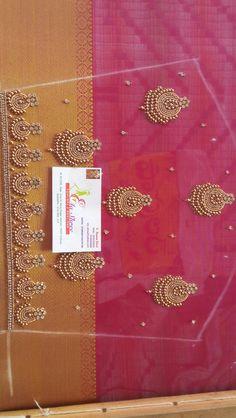 Cutwork Blouse Designs, Pattu Saree Blouse Designs, Simple Blouse Designs, Stylish Blouse Design, Hand Work Embroidery, Aari Embroidery, Embroidery Stitches, Traditional Blouse Designs, Mirror Work Blouse Design