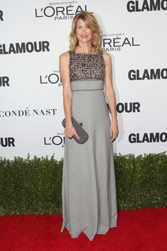 Laura Dern in a Patterned Floor-Length Dress - Every Gorgeous Look at Glamour's 2016 Women of the Year Awards - Photos