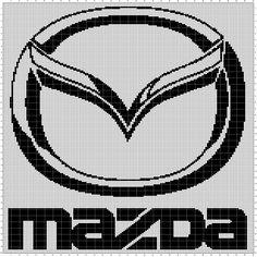 Mazda (150x200) Mazda, Pixel Art, Cross Stitch Patterns, Tapestry, Loga, Transportation, Beads, Dots, Needlepoint