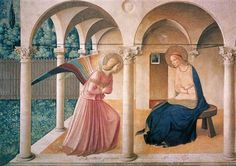 The Annunciation - Fra Angelico - I don't know why this is one of my favourites but it is.. I was able to see it in person last year and spent several minutes just standing and studying it up close.. every crack and spot.. it's fascinating.. there's nothing I'd love to do more than tour the world and just see everything.. things and places we only hear about or see on tv and in books..