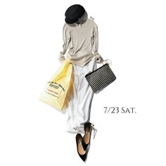 週末はゆるキレで♡今月OPENしたご近所ベーカリーをゆるっと探索してみようMarisol ONLINE|女っぷり上々!40代をもっとキレイに。 Summer Work Outfits, Outfit Summer, Beige Top, Everyday Look, Outfit Sets, Grey And White, White Jeans, Womens Fashion, Casual