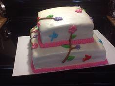 Mom's cake 3rd cake I ever done. Fondant