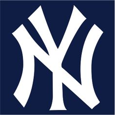 New York Yankees Cap Insignia. I am thinking of painting one wall the navy and having the logo smack in the middle!! All the other walls white!