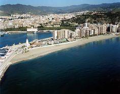 Malaga beach. La Malagueta. Spain.