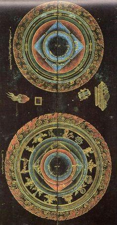 Ма́ндала (санскр. मण्डल — круг, диск; тиб. དཀྱིལ་འཁོར, Вайли dkyil 'khor; монг. мандал) — сакральное схематическое изображение либо конструкция, используемая в буддийских и индуистских религиозных практиках.