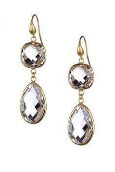 18K Gold Double Drop Earrings <3