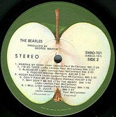 Beatles record on the Apple label