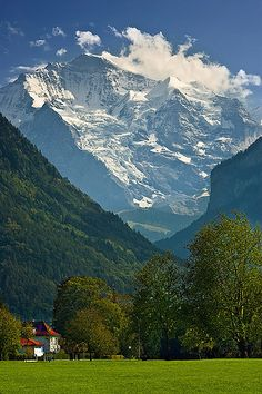 View on the Jungfrau, Interlaken, Switzerland - you can't beat this country, breathtakingly beautiful