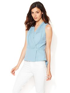 Hand Smocked Crepe Peplum Top by The Letter at Gilt