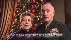 Happy Holidays, Marines! Commandant of the Marine Corps General Joseph F. Dunford, Jr., and his wife, Mrs. Dunford, send their holiday greetings to Marines and their families.  Semper Fidelis.