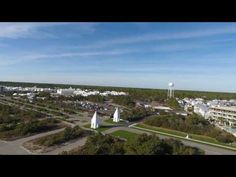 30A East Aerial Displays Views of Alys Beach and Paradise by the Sea