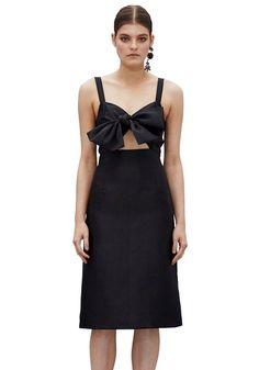 BY JOHNNY. Graphite Tie Front Dress | Contemporary Australian Womenswear