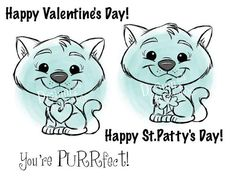 """Kitty Cat Valentine's Day or Everyday Digital Stamp Art/ KopyKake Set """"You are PURR-fect!!"""""""