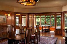 Restored dining room in Greene & Greene's Dr. W. T. Bolton House, #3 - read about the restoration process here: http://www-rohan.sdsu.edu/~stewart/glen_stewart/BoltonHouseResurrected_1982/