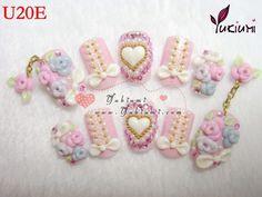 Japanese 3D nails deco den kawaii nails hand made nails