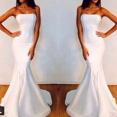 wedding dress mermaid/trumpet wedding dresses dress satin
