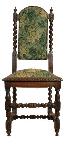 Set Of 6 English Jacobean Style Armless Chairs 2 Tudor Dining Room